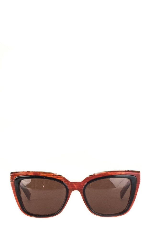 Alain Mikli Red Abstract Sunglasses