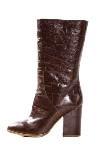 Alexa Wagner Cognac Crocodile Leather Boots SZ 38