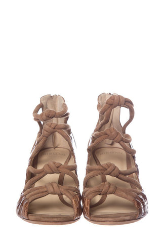 Alexandre Birman Tan Suede Sandals SZ 38.5