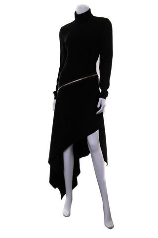 Alexandre Vauthier Black Long Sleeve Dress SZ 38