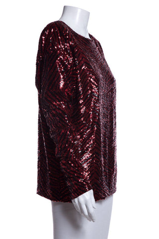 Alexandre Vauthier Red Sequin Top SZ 36
