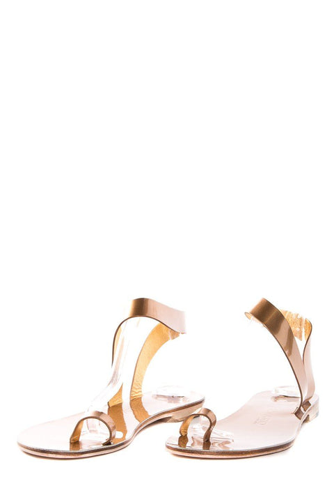 Alvaro Gonzalez Bronze Metallic Leather Angela Sandal SZ 37 NWT SALE