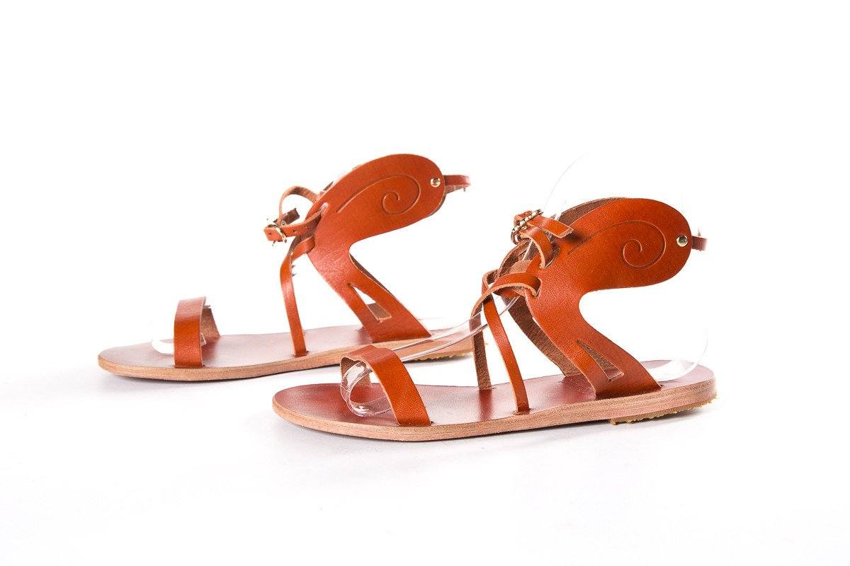 Ancient Greek Sandals Burnt Orange Sandals SZ 35