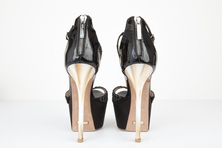 Baldan 37 Black Bubble Stud Platform Stiletto