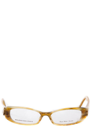 Balenciaga Brown Readers With Marbled Acetate Frames