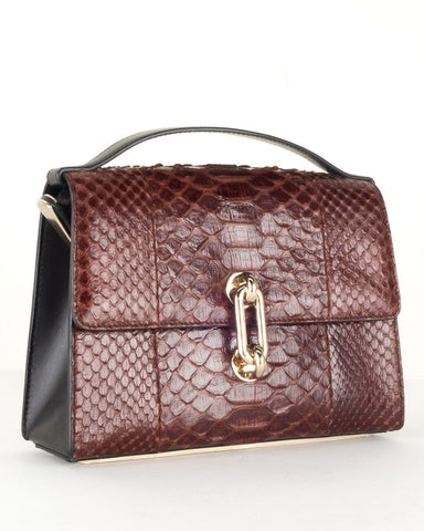 Balenciaga Burgundy Python Shoulder Bag