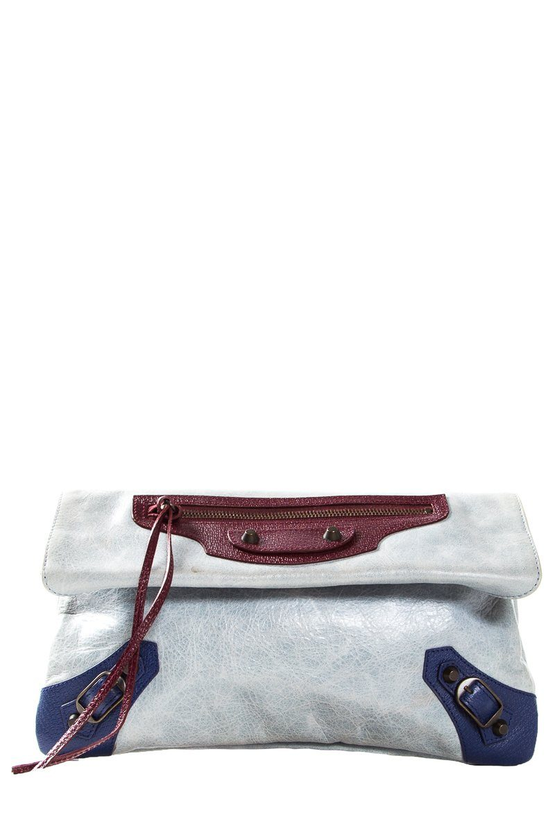 Balenciaga Multicolored Leather Motocross Envelope Clutch