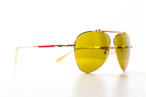 Balenciaga Multicolored Yellow Tinted Aviator Sunglasses
