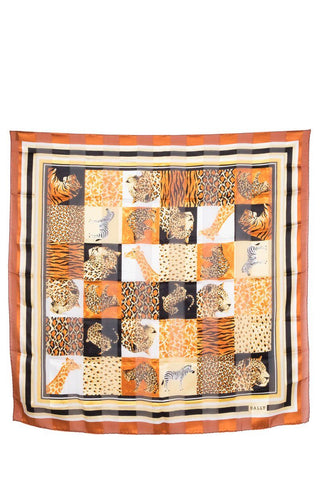 Bally Safari Animal Print Scarf