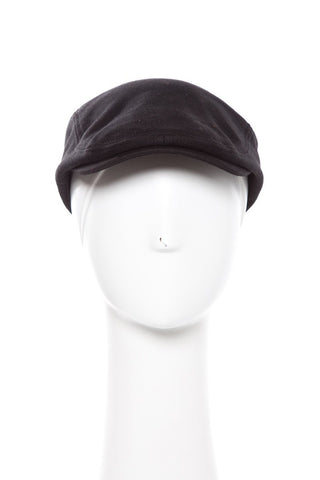 Black Knit Jersey Ivy Hat With Tonal Stitching