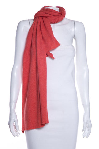 Brunello Cucinelli Orange Fine Knit Cashmere Scarf