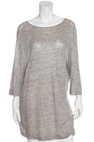 By Malene Birger Grey Knit Tunic Top Sz Large NWT DS