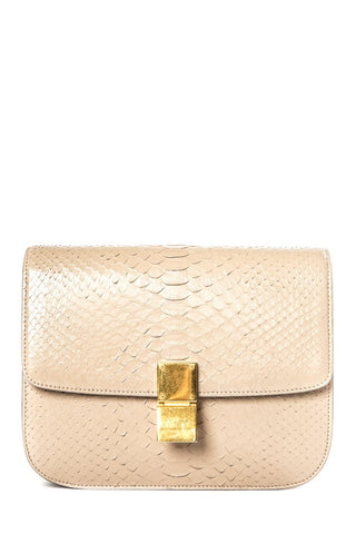 CÉLINE Tan Python Classic Box Cross-Body Bag