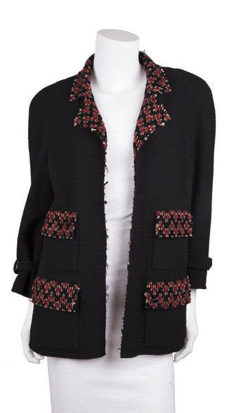 Chanel Black & Red Jacket