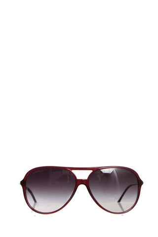 Chanel Burgundy Aviator CC Sunglasses