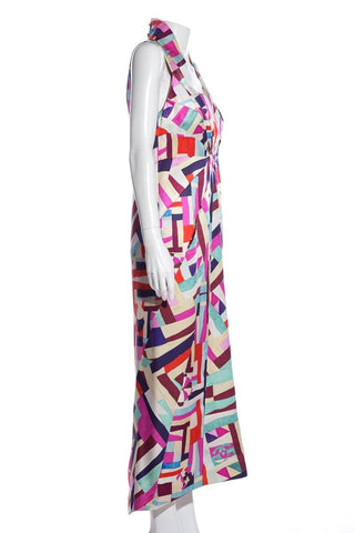 Chanel Multi Color Maxi Dress SZ 38