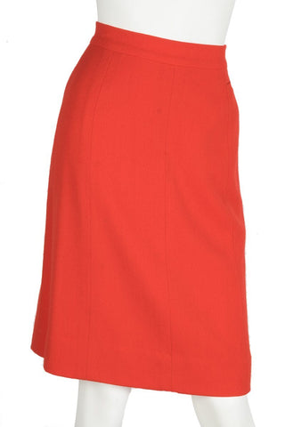 Chanel Red Pencil Skirt Sz 40