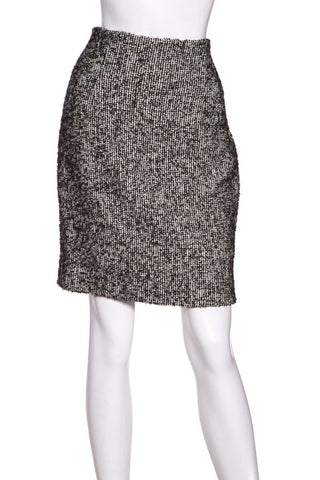 Christian Dior Black & White Tweed Skirt SZ 6