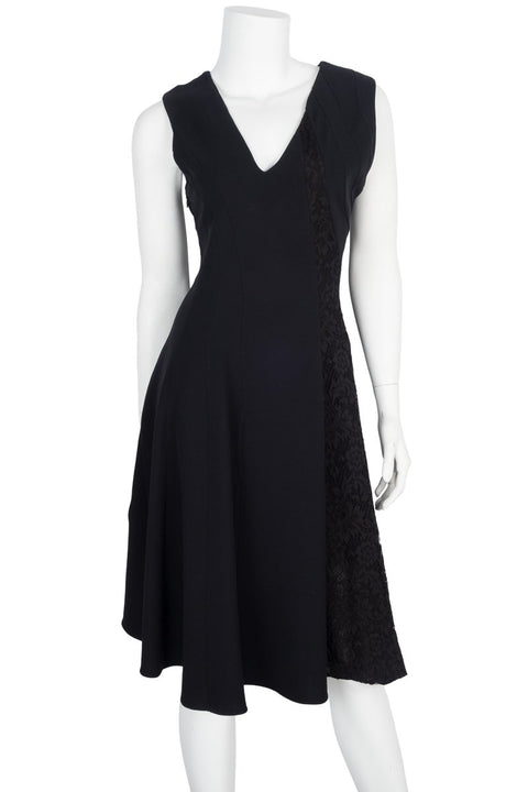 Christian Dior Black Lace Embellished Dress Sz 10