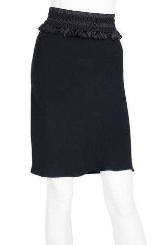 Christian Dior Black Straight Skirt Sz 6