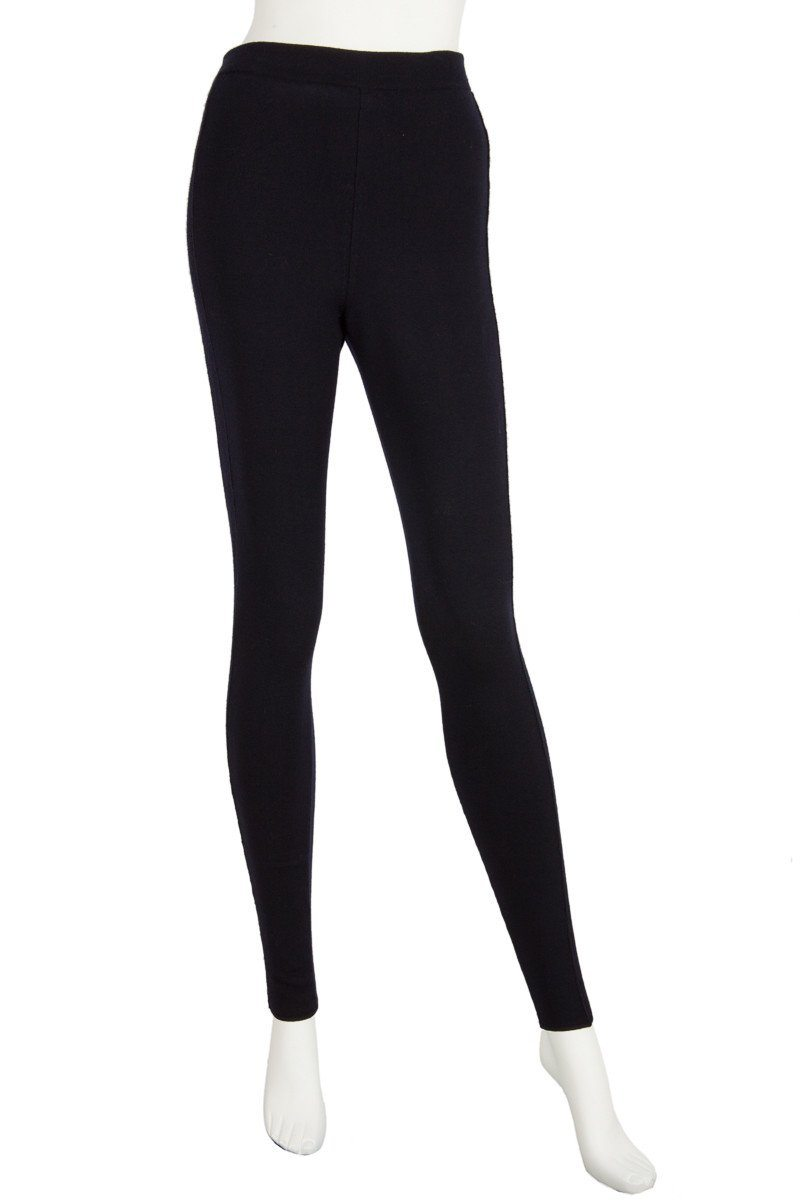 Christian Dior Navy Knit Leggings Sz 6