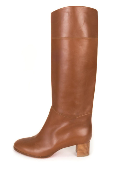 brand new 70262 80812 Christian Louboutin Camel Tan Leather Boots 39.5