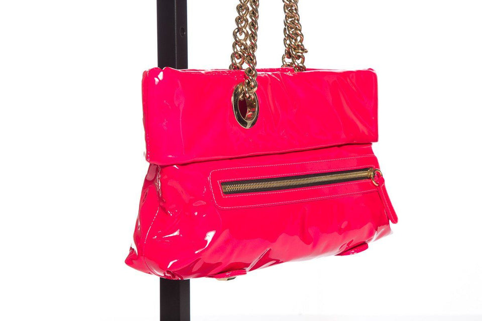 Christian Louboutin Hot Pink Patent Leather Shoulder Bag