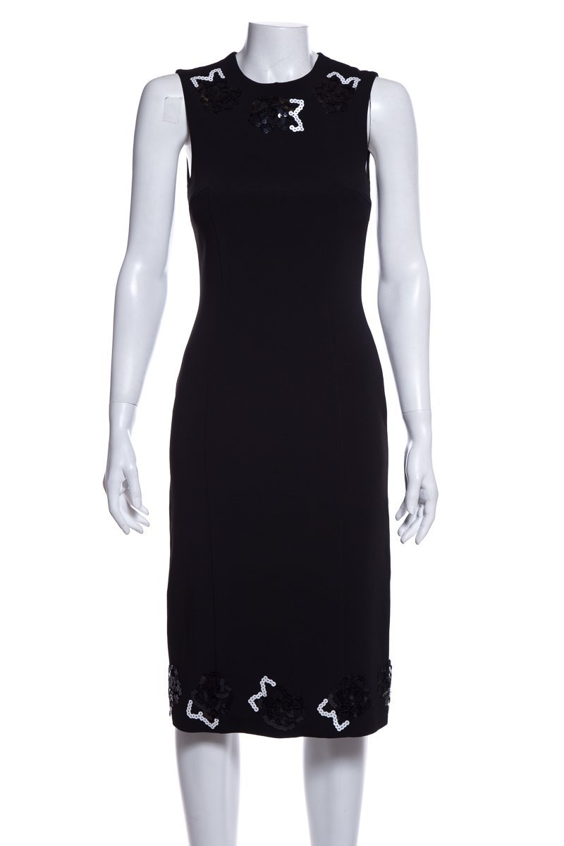 Christopher Kane Black Sleeveless Dress SZ 6