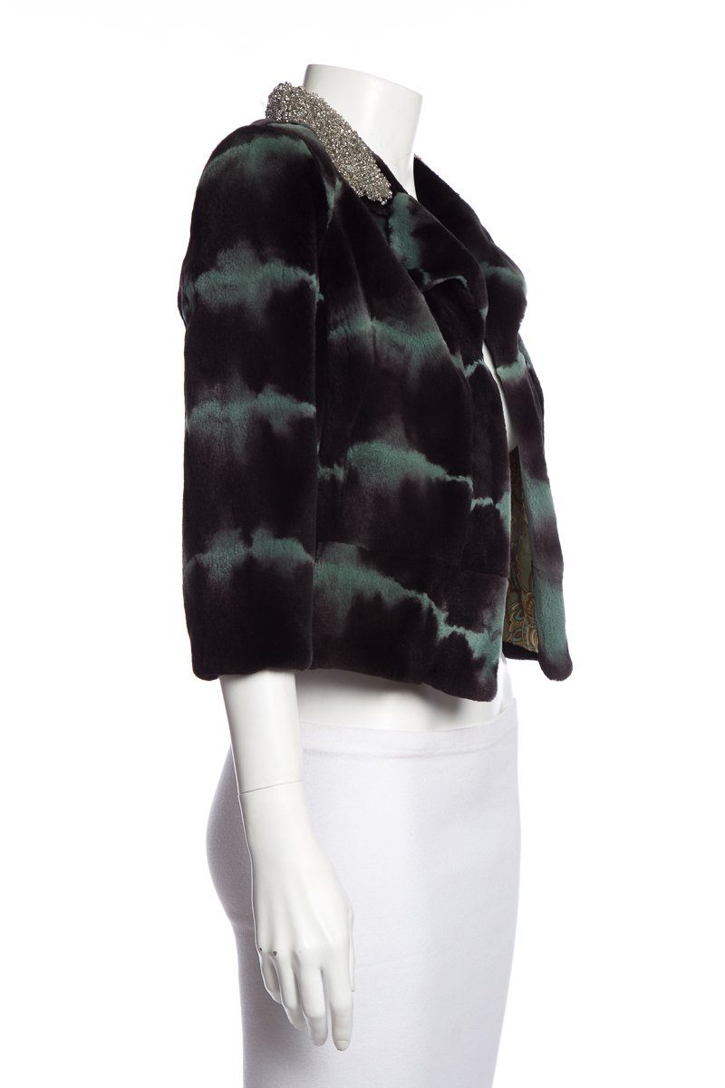 Cynthia Rose Multi-Color Sheared Mink Jacket SZ S