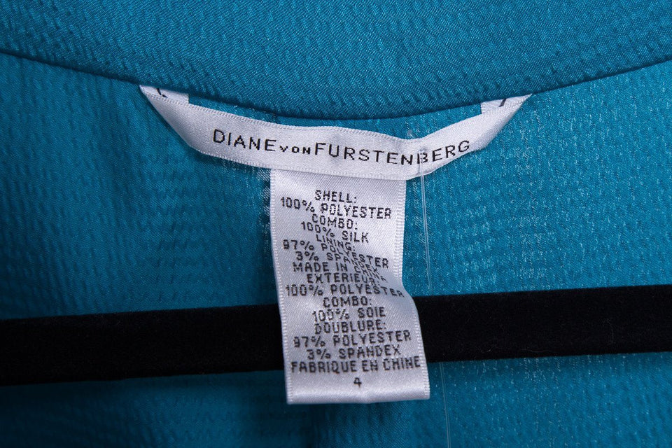 Diane von Furstenberg teal dress