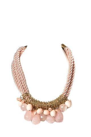 Daniel Espinosa Pink Rope Twist Necklace