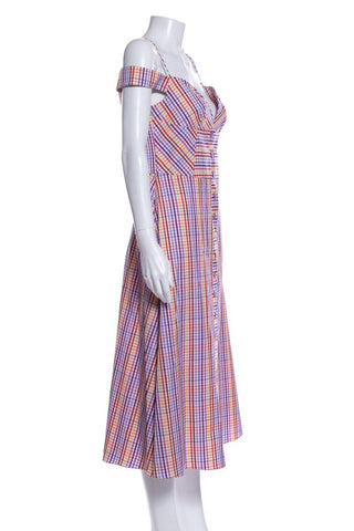 Davood Multi Color Stripe Dress SZ L