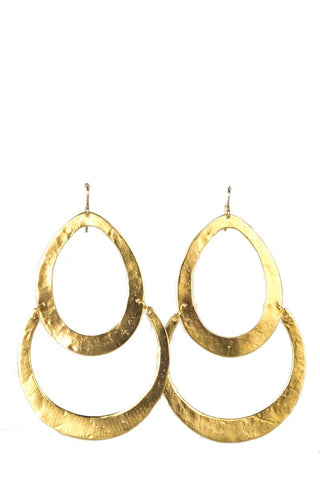Devon Leigh 18 Karat Gold Drop Earrings