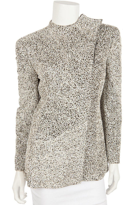 Giorgio Armani Fully Beaded White Sequin Formal Jacket Sz 8