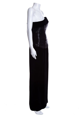 Givenchy Black Velvet Gown SZ 38 DS Sale