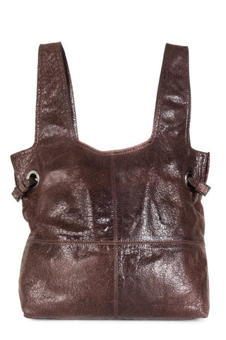 Givenchy Brown Distressed Leather George V Tote