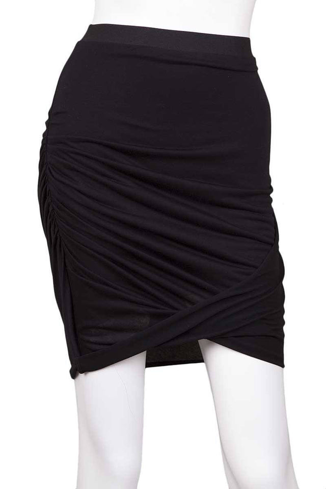 Helmut Lang Black Knit Skirt