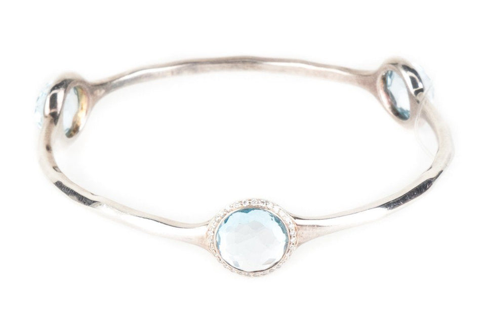 Ippolita Sterling Silver Lollipop London Blue Topaz Bracelet
