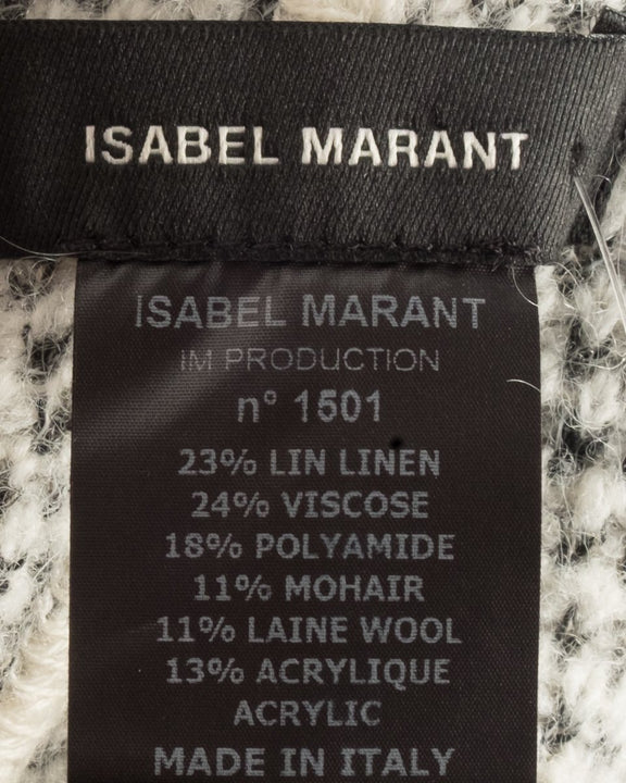 Isabel Marant Grey Knit Poncho