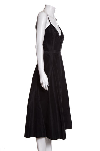 Issac Mizrahi Black Silk Dress Sz 10 DS