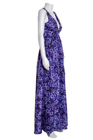 Jason Wu Purple Abstract Print Gown SZ 2