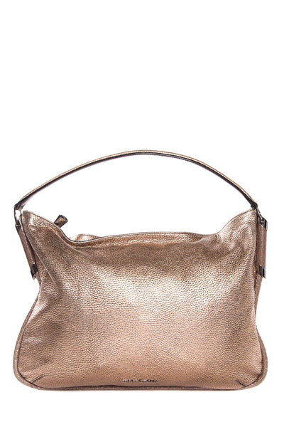 Jimmy Choo Champagne Pebbled Leather Shoulder Bag
