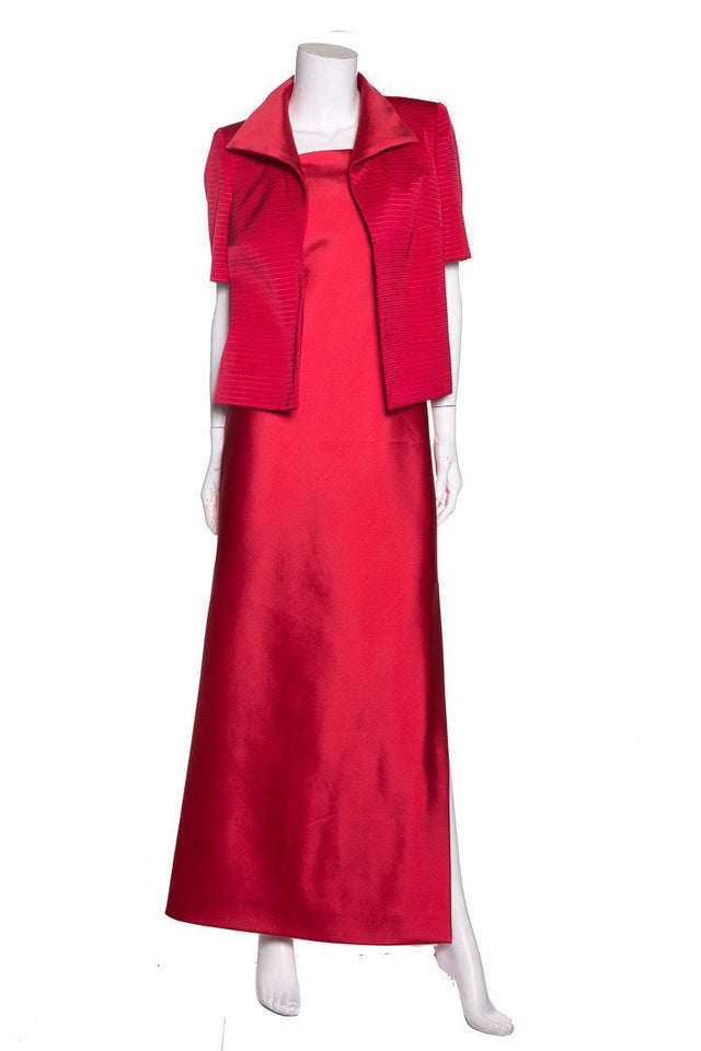 John Anthony Red Evening Gown & Jacket Set