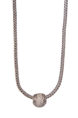 John Hardy Sterling Silver & Diamond Classic Chain Necklace