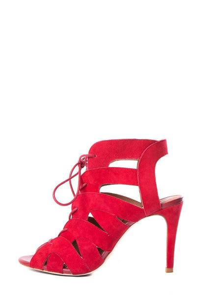 Joie Red Caged Sandals SZ 39
