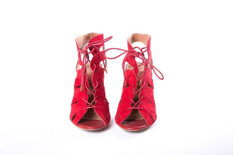 48902eb7482687 ... Joie Red Caged Sandals SZ 39