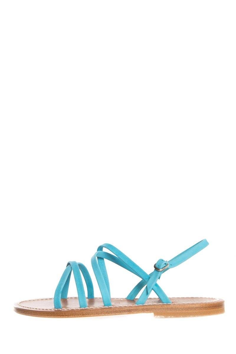 K.Jacques Turquoise Criss-Cross 'Talara' Sandals SZ 38 NWT