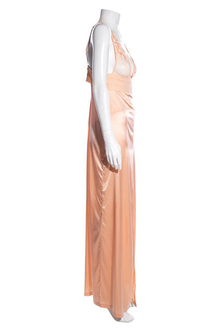 La Perla Peach Slip Dress SZ S