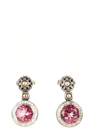 Lagos Sterling Silver & Pink Sapphire Drop Earrings