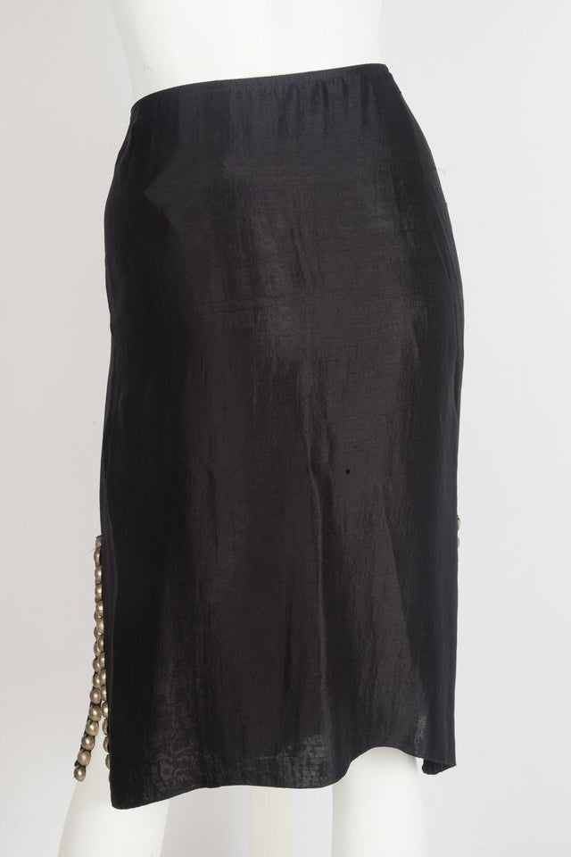 Lanvin Black Studded Skirt Sz 44